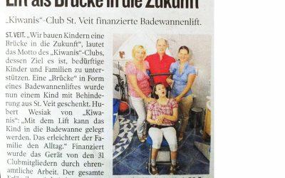 KC Noreia St. Veit unterstützt ein behindertes Kind